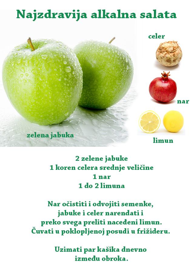 Moćna voćna alkalna salata