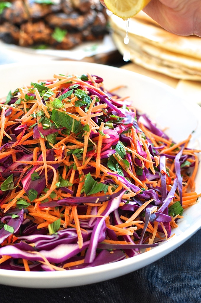 Shredded-Red-Cabbage-Carrot-and-Mint-Salad